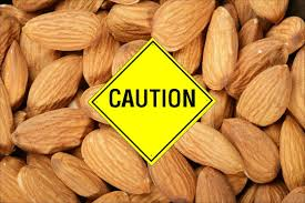 almonds warning